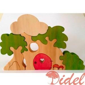 Деревянный пазл Волшебное деревце