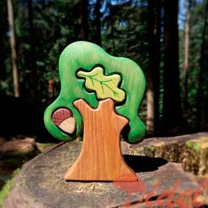 Деревянный пазл Дуб
