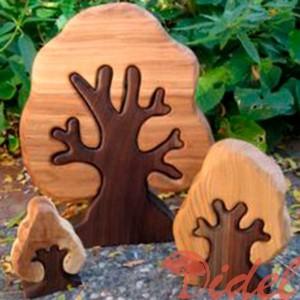 Деревянный пазл Деревце