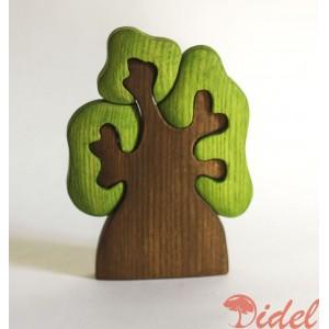 Деревянный пазл Дерево с тремя кронами
