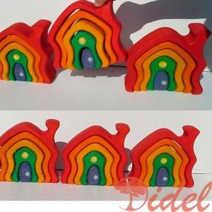 Пирамидка «Домик радуга»