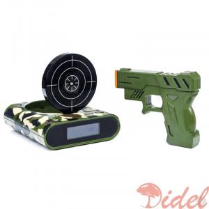 Будильник с пистолетом Камуфляж