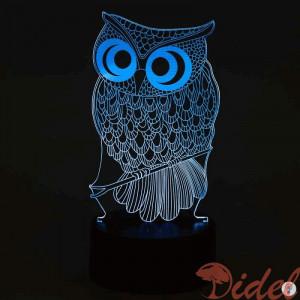 3D Cветильник Сова