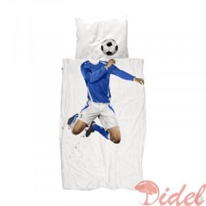 Комплект постельного белья Snurk Футболист синий 150 х 200 см.